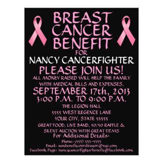 """Aviador de encargo de la ventaja del cáncer de pec folleto 8.5"""" x 11"""""""