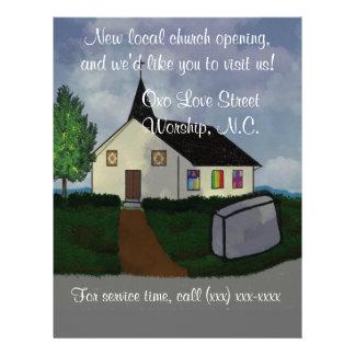 Aviador de la abertura de la iglesia tarjeta publicitaria