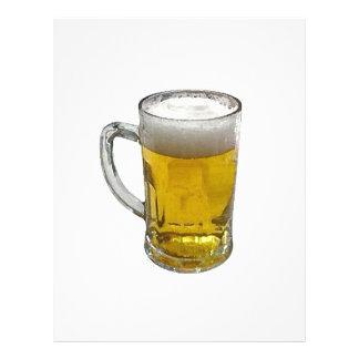 Aviador de la cerveza tarjetas publicitarias