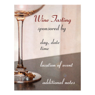 Aviador de la degustación de vinos folleto 21,6 x 28 cm