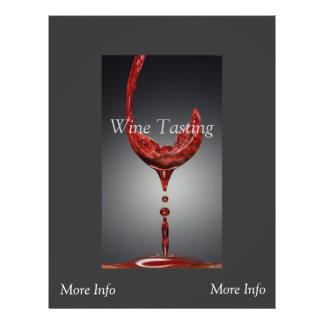 """Aviador de la degustación de vinos folleto 8.5"""" x 11"""""""