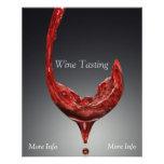 Aviador de la degustación de vinos flyer a todo color