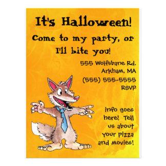 """Aviador de la invitación del fiesta de Halloween d Folleto 8.5"""" X 11"""""""