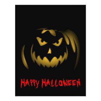 Aviador de la Jack-o-linterna del feliz Halloween Tarjetón