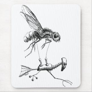 Aviador de la mosca alfombrilla de ratón