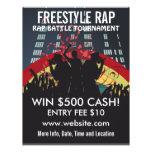 Aviador de la música de la batalla del rap del est tarjeta publicitaria