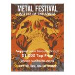 Aviador de la música del festival 2 del metal flyer a todo color