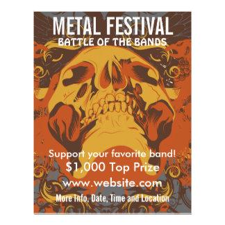 """Aviador de la música del festival 2 del metal folleto 8.5"""" x 11"""""""