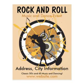 Aviador de la música del rock-and-roll tarjetas informativas