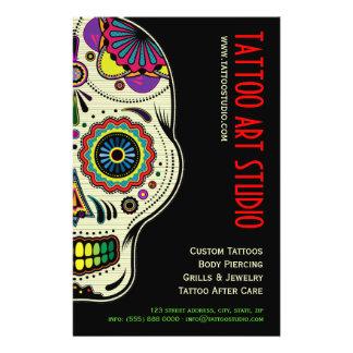 Aviador de la tienda del arte del tatuaje tarjeta publicitaria