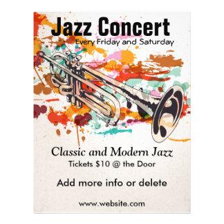 """Aviador de la trompeta del jazz folleto 8.5"""" x 11"""""""
