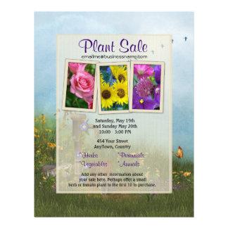 Aviador de la venta de la flor y de planta flyer personalizado