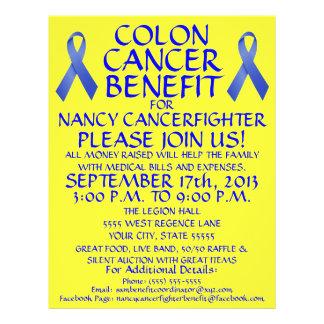 Aviador de la ventaja del cáncer de colon del dibu tarjetas publicitarias