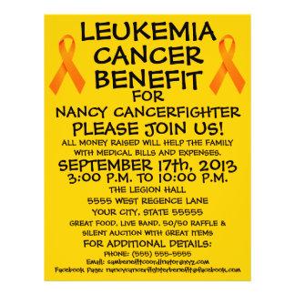 "Aviador de la ventaja del cáncer de la leucemia de folleto 8.5"" x 11"""