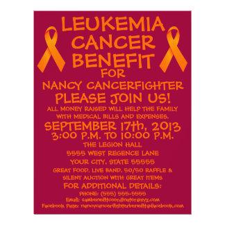 Aviador de la ventaja del cáncer de la leucemia flyer personalizado