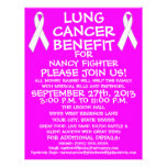 Aviador de la ventaja del cáncer de pulmón tarjetas informativas