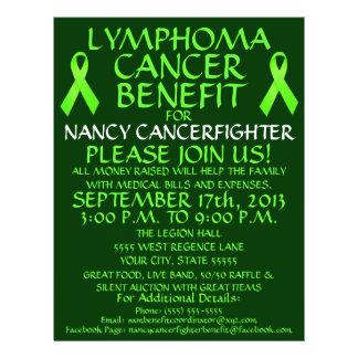 Aviador de la ventaja del cáncer del linfoma tarjetones