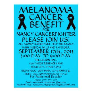 """Aviador de la ventaja del cáncer del melanoma folleto 8.5"""" x 11"""""""