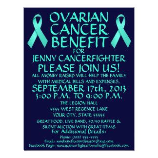 Aviador de la ventaja del cáncer ovárico tarjetas publicitarias