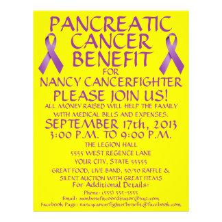 """Aviador de la ventaja del cáncer pancreático folleto 8.5"""" x 11"""""""