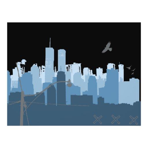 """Aviador de la vida urbana folleto 8.5"""" x 11"""""""