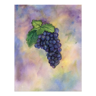 Aviador de las uvas de vino del pinot negro flyer personalizado
