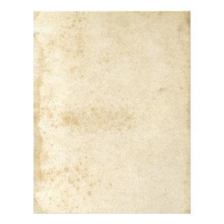 Aviador de papel manchado antigüedad en blanco de flyer personalizado