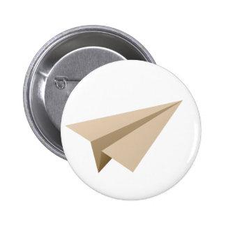 Aviador de papel paper planifica pin redondo de 2 pulgadas