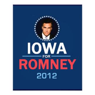 "Aviador de Romney Iowa Folleto 4.5"" X 5.6"""