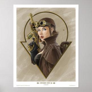 Aviador de Steampunk Posters