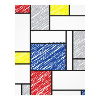 Aviador de Stijl del arte moderno de Piet Mondrian Flyer A Todo Color