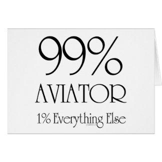 Aviador del 99% tarjeta de felicitación