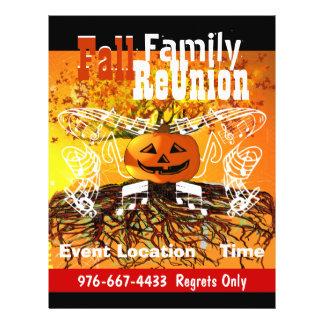 Aviador del acontecimiento de la caída de Hallowee Tarjeton