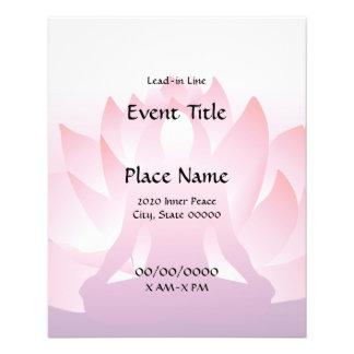 """Aviador del acontecimiento de Lotus de la yoga peq Folleto 4.5"""" X 5.6"""""""