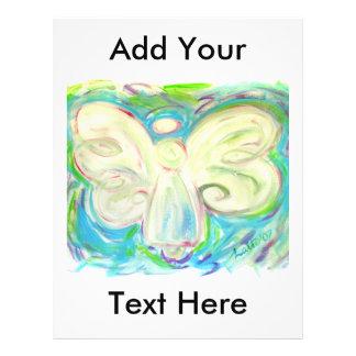 Aviador del ángel de la luz blanca tarjeta publicitaria