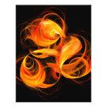 Aviador del arte abstracto de la bola de fuego tarjetones