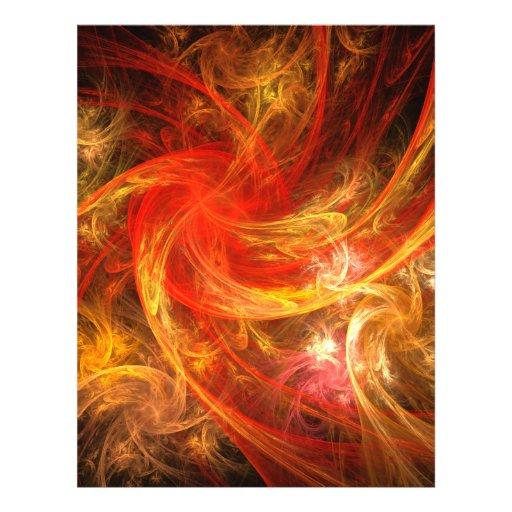 Aviador del arte abstracto de la tormenta de fuego flyer personalizado