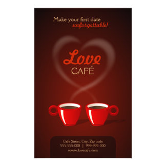 "Aviador del café del amor folleto 5.5"" x 8.5"""