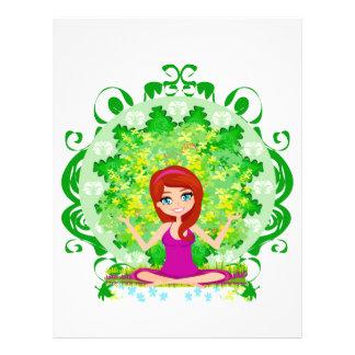 Aviador del chica de la yoga flyer a todo color