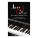 Aviador del concierto de la música de los azules d tarjetas informativas