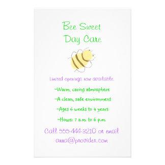 Aviador del cuidado de niños del tema del abejorro tarjetas informativas