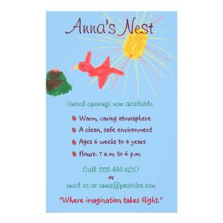 """Aviador del cuidado de niños folleto 5.5"""" x 8.5"""""""