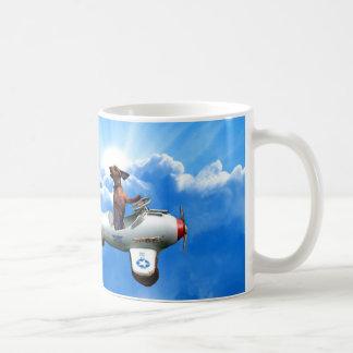 """Aviador del Dachshund"" diseñado por Zermeno Taza De Café"