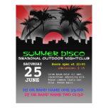 aviador del disco del verano tarjetas publicitarias