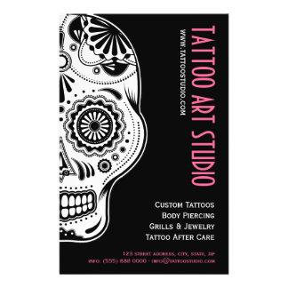 Aviador del estudio del arte del tatuaje tarjetas publicitarias