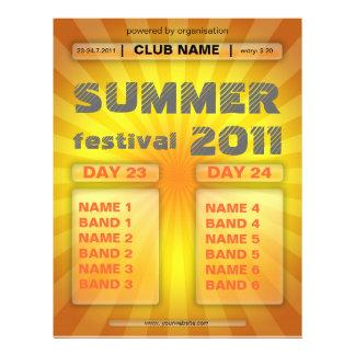 aviador del festival del verano tarjetas informativas