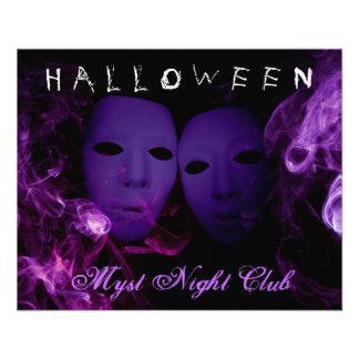 Aviador del fiesta de Halloween de las máscaras de Tarjetas Informativas