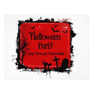 Aviador del fiesta de Halloween del Grunge Tarjetas Informativas