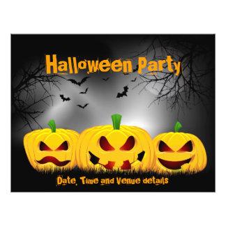 "Aviador del fiesta de Halloween Folleto 8.5"" X 11"""
