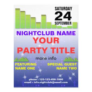 aviador del fiesta del club nocturno tarjeton
